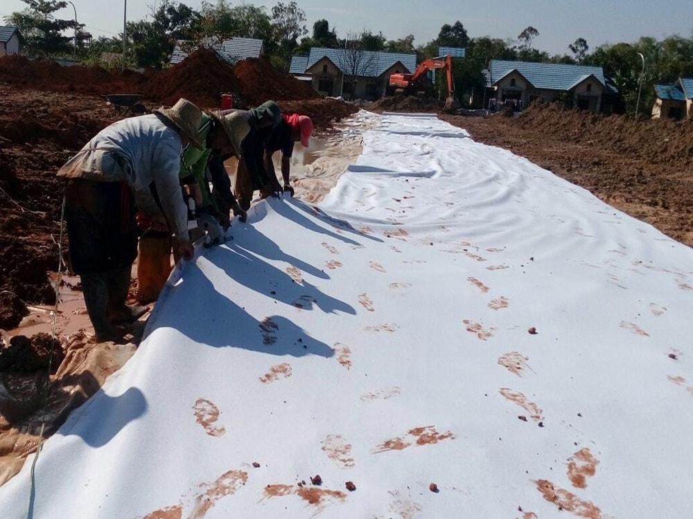 instalasi geotextile di banjarmasin